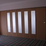 Wood folding doors Wood Veneered spazio folding doors